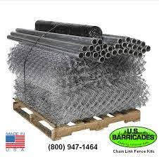 Galvanized Chain Link Fence Kit 300ft U S Barricades C U S Barricades Traffic Control Pedestrian Safety Products