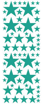 Turquoise Star Wall Decal Star Wall Sticker Whimsidecals