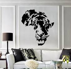 Vinyl Decal Tiger Animal Africa Map Kids Room Wall Stickers Decor Independence