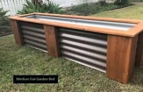 corrugated steel garden bed