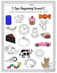 i spy beginning sounds activity free
