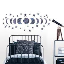 Wall Pops Reach For The Moon Glow In The Dark Wall Art Kit Wall Decals Wpk3017 The Home Depot