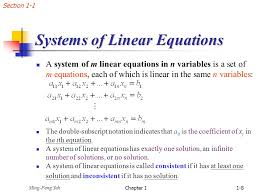 chap 1 systems of linear equations