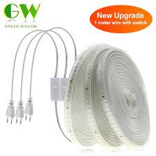 220V Dây Đèn LED 2835 Siêu Sáng LED Dẻo Băng 120 Đèn LED/M Cao An Toàn  Chống Thấm Nước Dây Đèn LED Ánh Sáng trang Trí Nhà Chiếu Sáng 