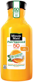 pure squeezed orange juice no pulp