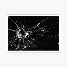 Broken Glass Stickers Redbubble
