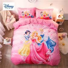 pink disney princess bedding set twin