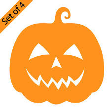 Spooky Evil Pumpkin Jack Lantern Halloween Vinyl Decal Sticker Car Window Wall