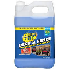 Krud Kutter 1 Gallon Deck And Fence Pressure Washer Cleaner Lowes Com In 2020 Washer Cleaner Pressure Washer Deck Fence