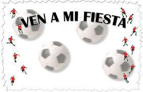 Tarjetas De Invitacion Cumpleanos Motivo Futbol Para Imprimir