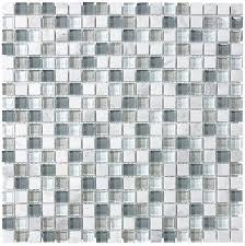 glass and stone square mosaic tiles