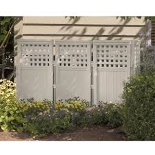Suncast Fs4423t Outdoor Steel And Resin 4 Panel Screen Yard Enclosure Taupe Walmart Canada