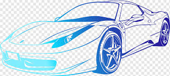 Sports Car Sports Car Ferrari 458 Wall Decal Painted Cool Cars Watercolor Painting Blue Car Accident Png Pngwing