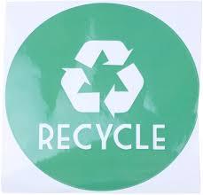 Trash Vinyl Lettering Decal Sticker 6x6 Inch Green Recycle Black Trash Acamptar Recycle Home Kitchen Storage Organization