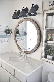 vanity lighting farmhouse bathroom
