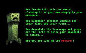 text creeper minecraft wallpaper