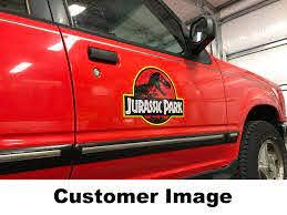 Jurassic Park Logo Magnets Pair Jp Gear