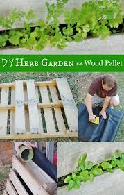wood pallet garden for herbs tutorial