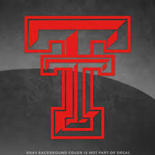 Texas Tech Red Raiders T Logo Vinyl Decal Sticker 4 And Larger 30 Colors Ebay