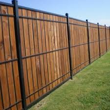 Oz Post Wood And Wrought Iron Yelp Iron Fence Wood Fence Design Fence Design