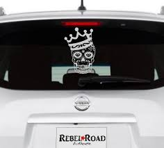 King Daddy Sugar Skull Vinyl Decal Rebel Rd Auth