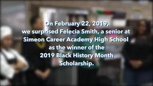 Toni Preckwinkle - Felecia Smith | Black History Month Scholarship Winner |  Facebook