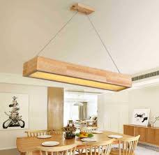 wooden table chandelier lamps