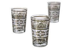 moroccan tea glasses tunis white gold