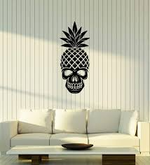 Amazon Com Large Vinyl Wall Decal Skull Pineapple Tropical Art Home Interior Decor Stickers Mural Ig5685 Home Kitchen