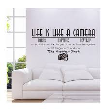 Honana Home Pvc Removable Life Is Like A Camera Wall Stickers Decals Vinyl Mural Diy Room Wallpaper Office Study Decoration Wate