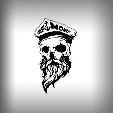Bearded Skull Surfmonkey Gear Decals Stickers Car Decal Glass Etsy