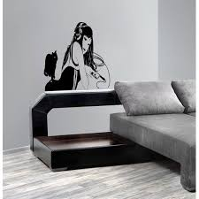 Shop Anime Decal Anime Stickers Anime Vinyl Girl With Headphones Music Wall Art Sticker Decal Size 22x26 Color Black 22 X 26 Overstock 13216441