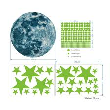 Wholesale Luminous Moon Stars Wall Stickers For Kids Room Baby Nursery Home Decoration Wall Decals Glow In The Dark Bedroom Ceiling 30cm 3259 3255 From China