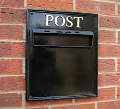 letter box fully cast post box wall