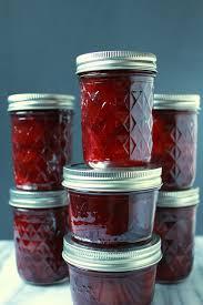 plum cardamom jam food in jars