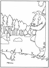 Library Behavior Coloring Pages Beautiful Kleurplaat Gruffalo