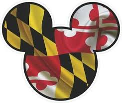 Maryland Flag Mickey Mouse Car Window Decals Stickers Set Of Three Ebay