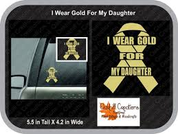I Wear Gold For My Daughter Window Decal Car Sticker Etsy