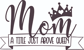 Mom A Title Just Above Queen Mother Customized Wall Decal Custom Vinyl Wall Art Personalized Name Baby Girls Boys Kids Bedroom Wall Decal Room Decor Wall Stickers Decoration Size