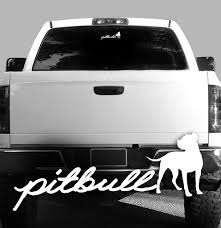 Pitbull Script Vinyl Decal Bully Pitbull Terrier Car Vehicle Rockin Da Dogs