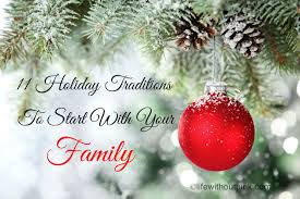 holiday traditions to start your family life out pink