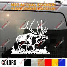 Elk Wapiti Deer Decal Sticker Car Vinyl Pick Size Color No Bkgrd B Car Stickers Aliexpress