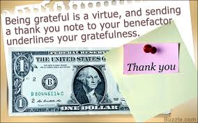 thank you notes for money