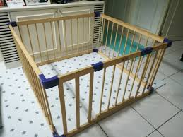 Jollybaby Wooden Foldable Play Fence Babies Kids Cots Cribs On Carousell
