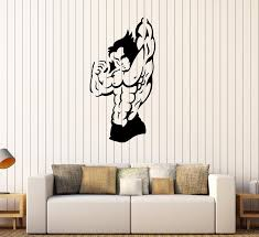 Wall Decal Fitness Sports Bodybuilding Gym Athlete Muscle Vinyl Sticke Wallstickers4you