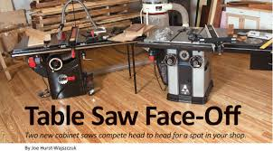 Table Saw Face Off
