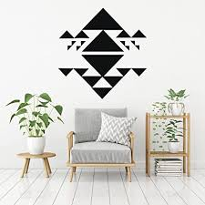Amazon Com Unique Wall Art Vinyl Decals Geometric Triangle Themed Mural For Living Room Bedroom Office Handmade