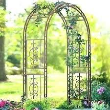 metal garden arch heavy duty with gate