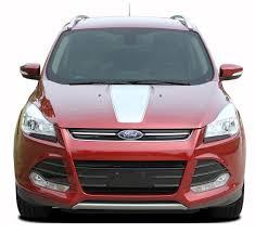 Capture Ford Escape Hood Vinyl Graphics Decal Stripe Kit 2013 2019 Models Moproauto Professional Vinyl Graphics And Striping