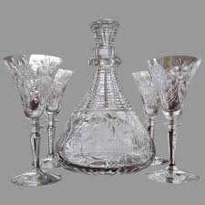 cordial sherry decanter set